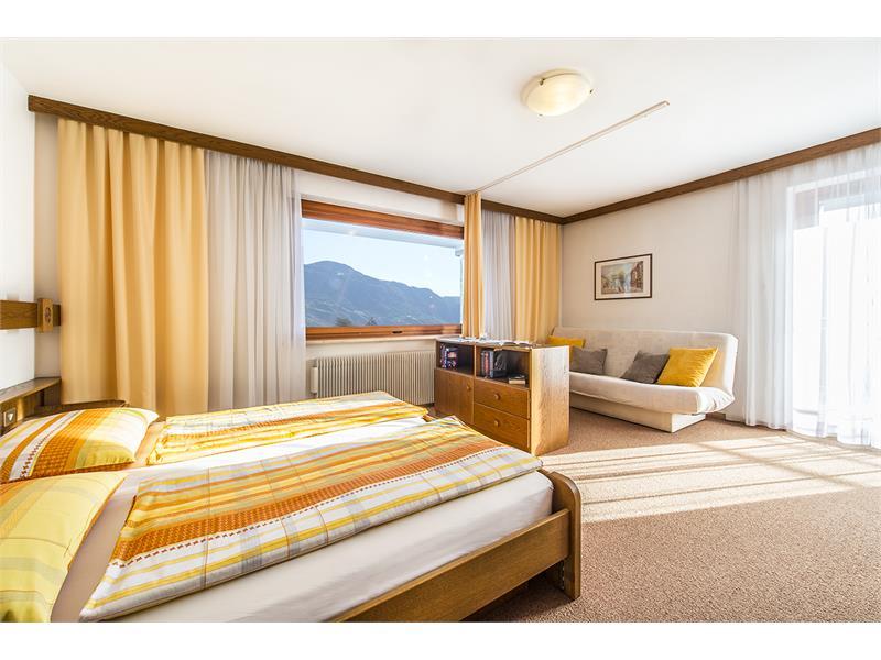 Schlafzimmer der Wohnung Typ B