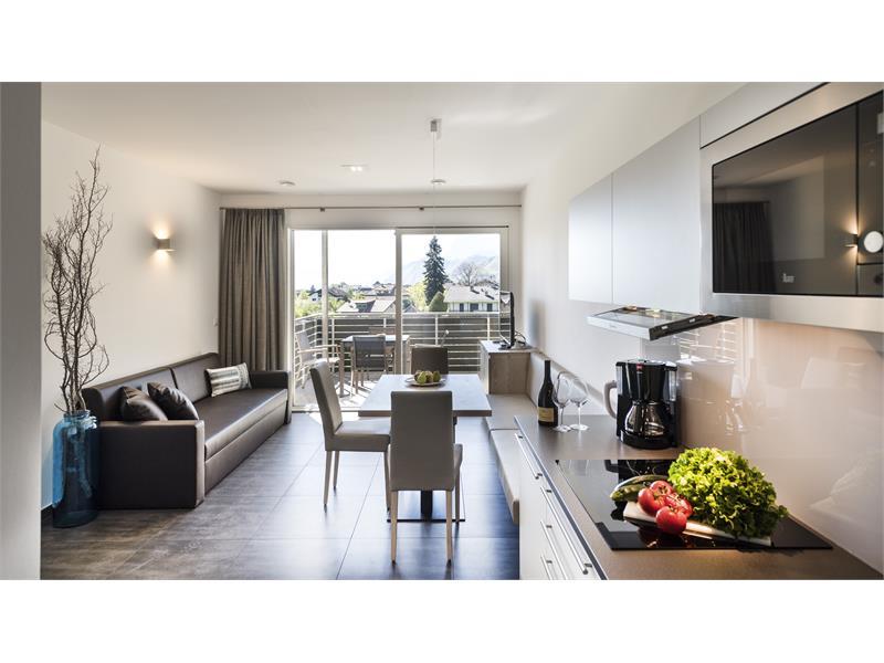 Wohnraum mit Küche Appartment Texel