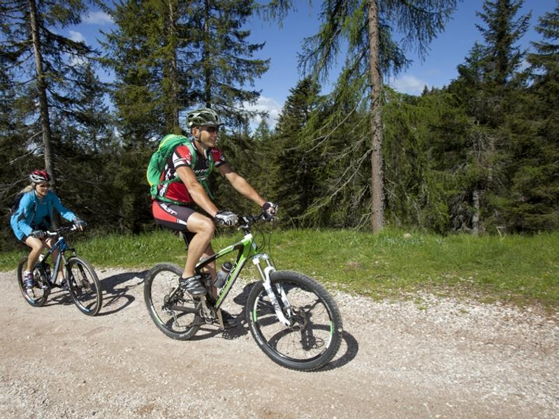 Tour in mountain bike alla Malga Wurzer