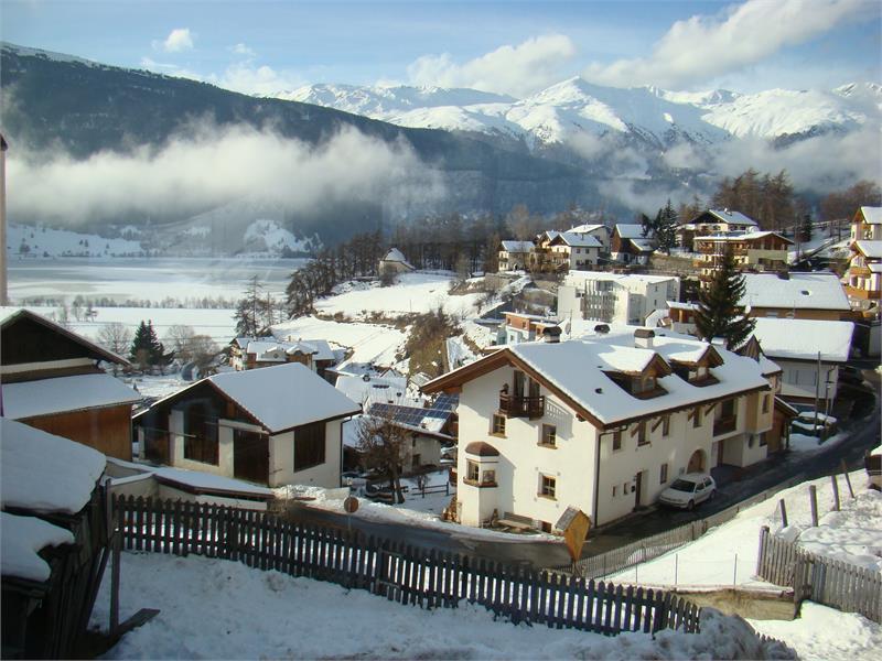 Aussicht Dorf Graun