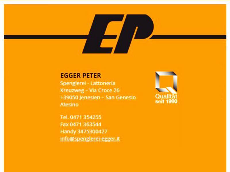 EGGER PETER- Plumber