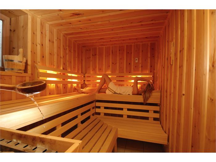 Aparthotel Viktoria Castelrotto Alpe di Siusi Dolomites finnish sauna for the winter months
