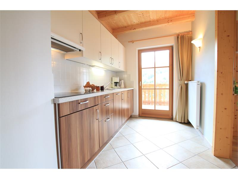 Fully equipped kitchen with panoramic view