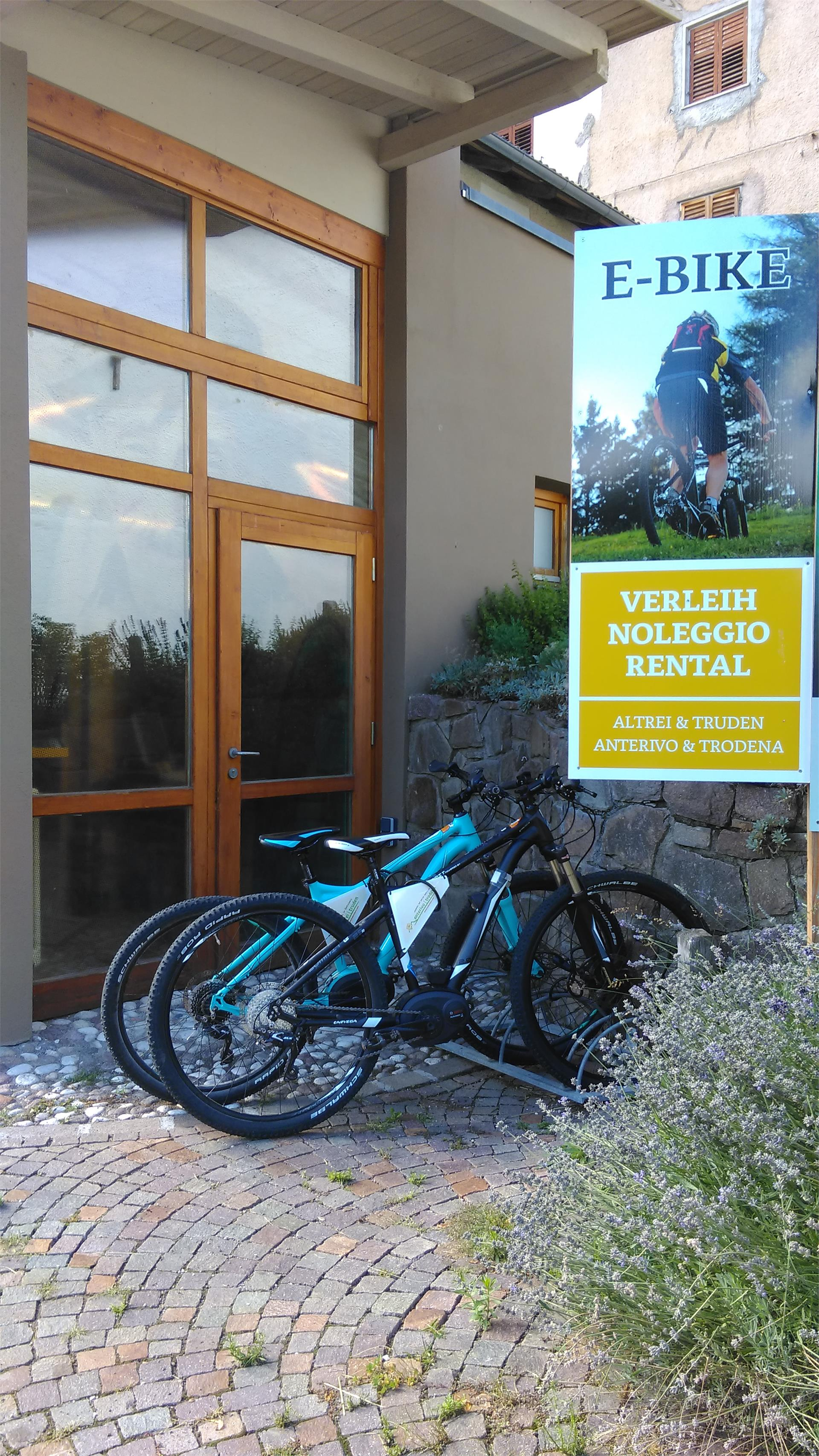 E-Bike rental at Trodena and Anterivo