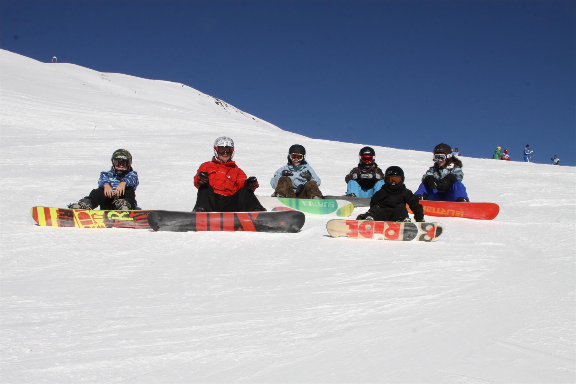 Snowboard auf der Plose