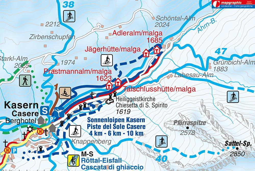 Winterwanderung am Talschluss in Kasern
