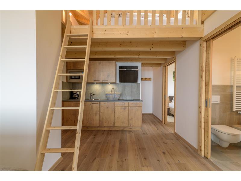 Wohnküche in der Ferienwohnung - Eggerhof in Vöran