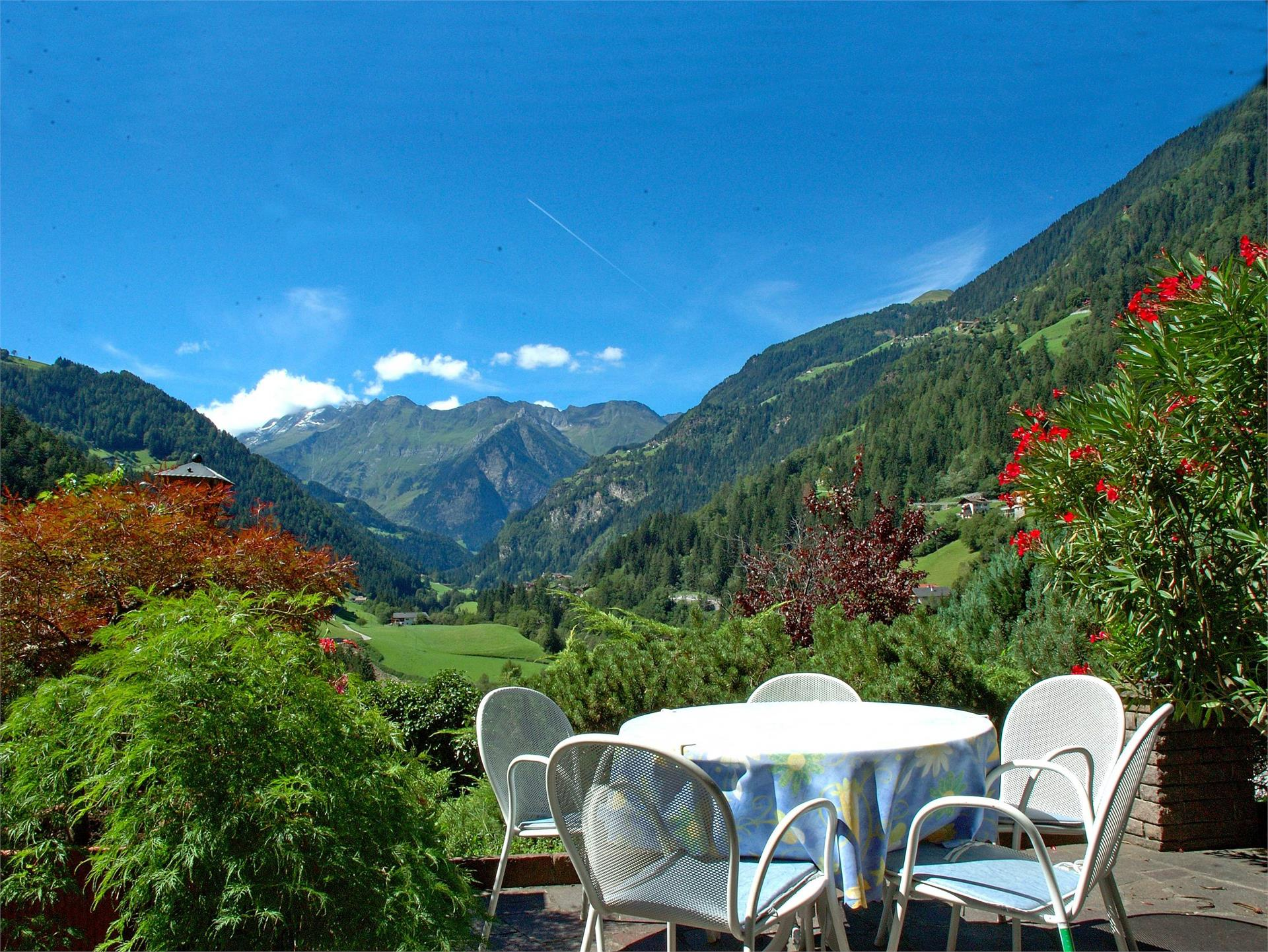 Terrace with panoramic views to the rear Passeiertal