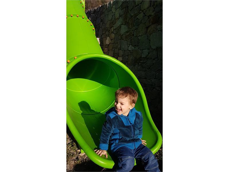 Finn on the slide