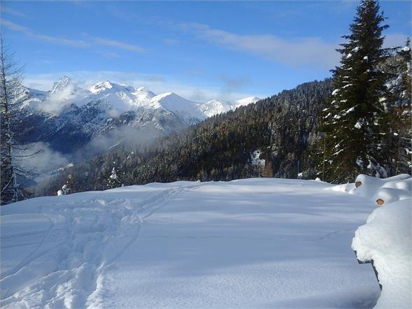 Winterlandschaft Richtung Prantneralm