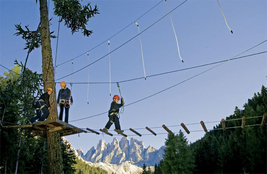 High rope adventure park Funes