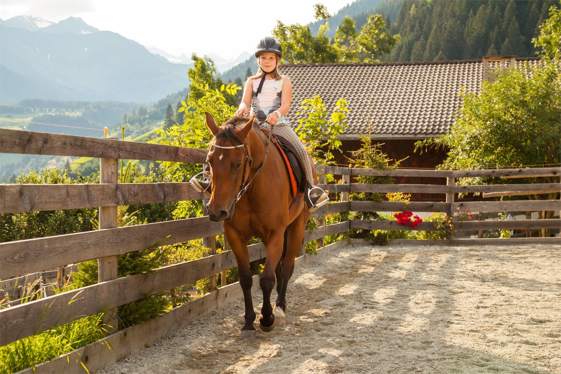 unsere Magdalena mit Pferd