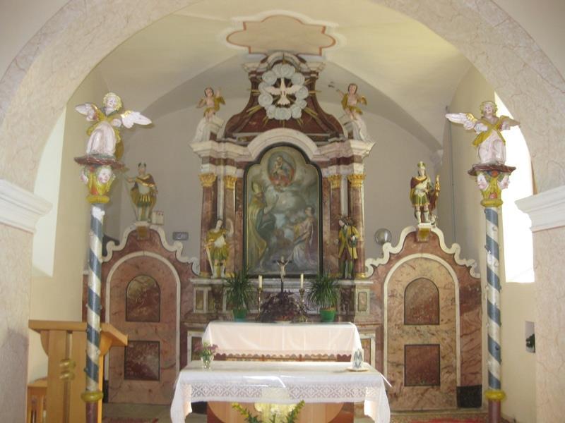 Valentinskirche Schlaneid Innenansicht