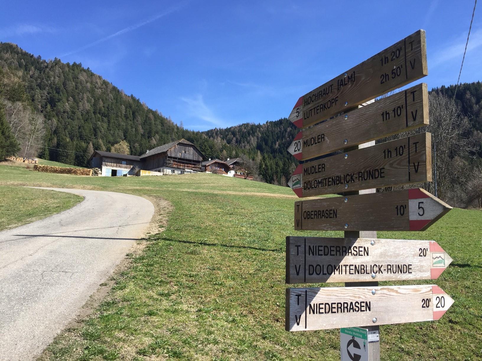 Hiking: Niederrasen - Oberstall - Oberrasen