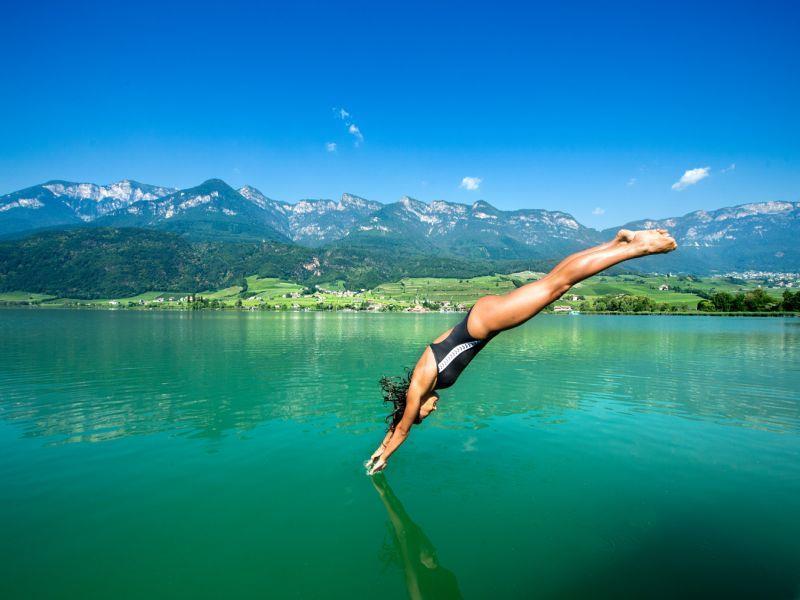 Swimming in the Lake Kaltern