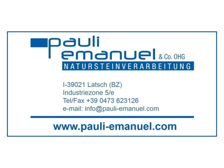 Steinmetz/Bildhauer Pauli Emanuel