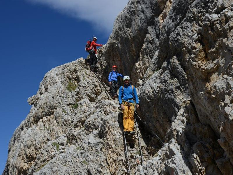 Guided excursion to a classic via ferrata