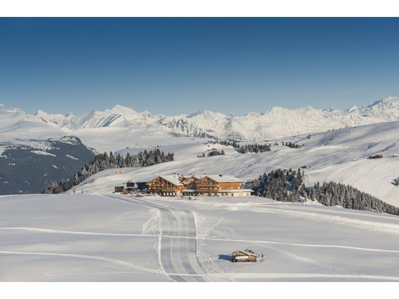 Directly on the ski slopes in winter