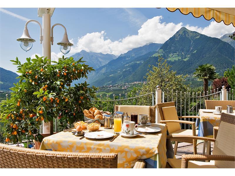 Frühstücks Terrasse