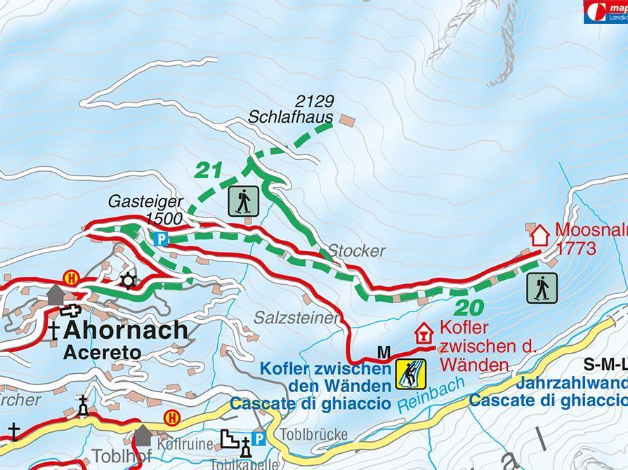 Snowshoe hike Schlafhäuser Acereto/Ahornach