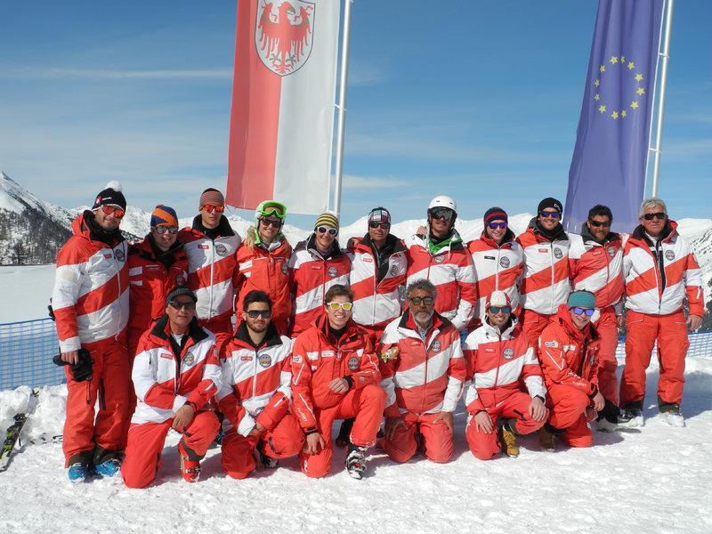 Skilehrer der Skischule Reschen