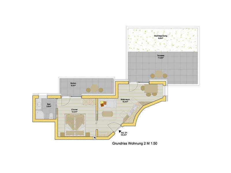Apartment 2 persons