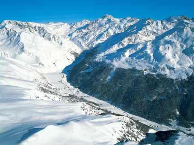 The valle Langtaufers in winter