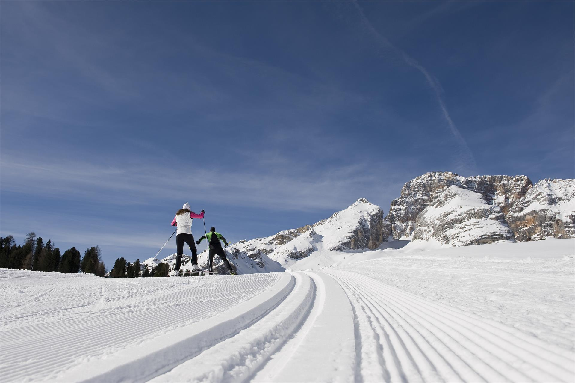 Cross-country-skiing at Prato Piazza