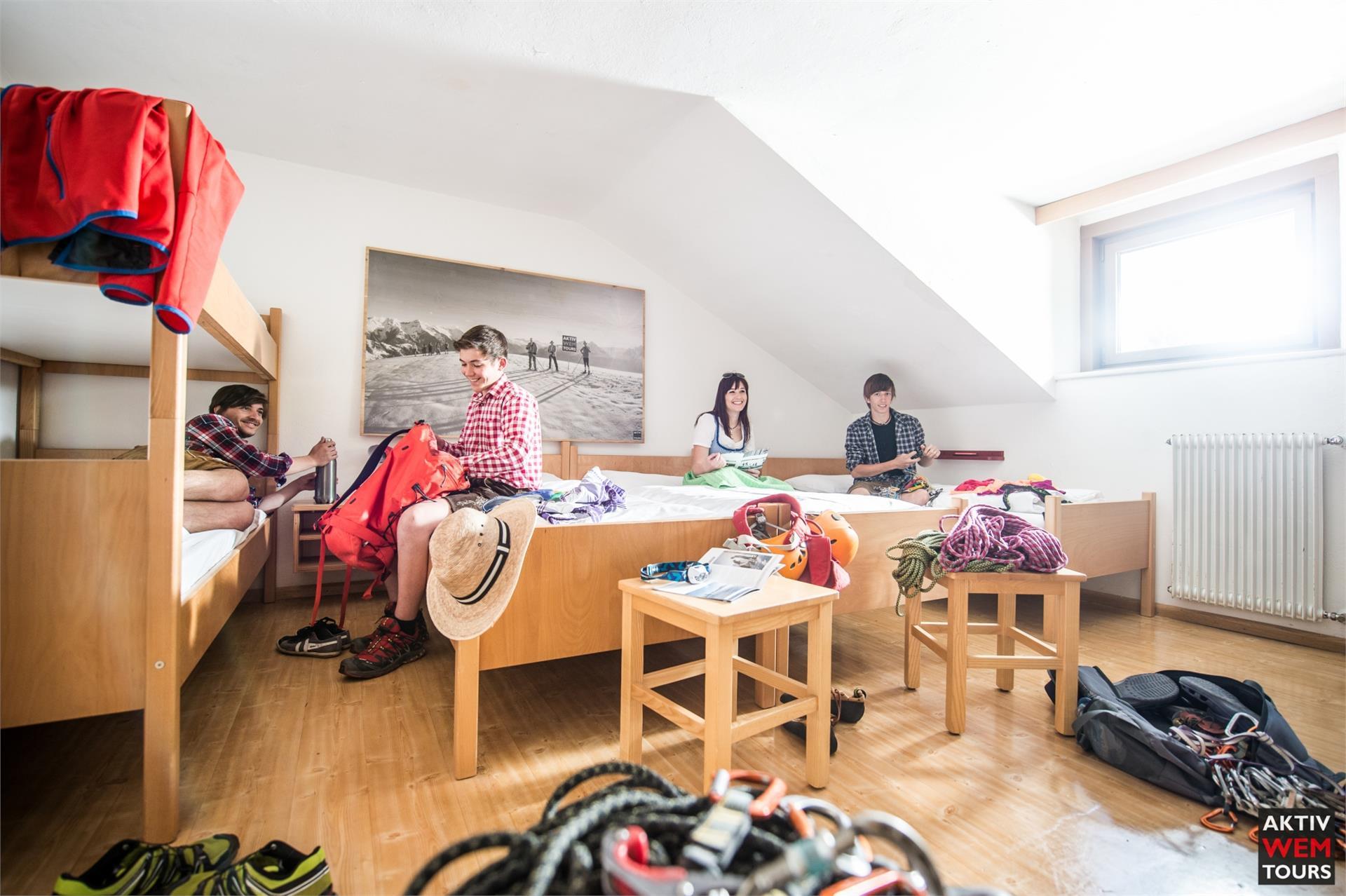 Mit Freunden ein Zimmer teilen...in unseren Mehrbettzimmern