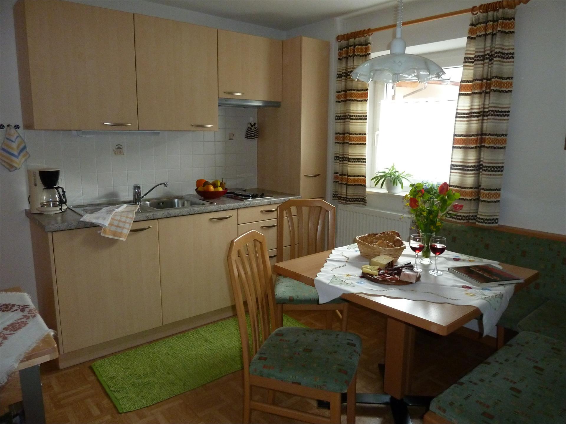 Küche Wohnung Barbara- Haus Albert Haselrieder, Völs am Schlern