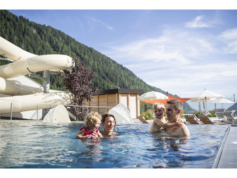 outdoor pool with waterslide