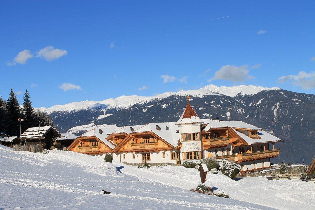 Winter hiking Haidenberg