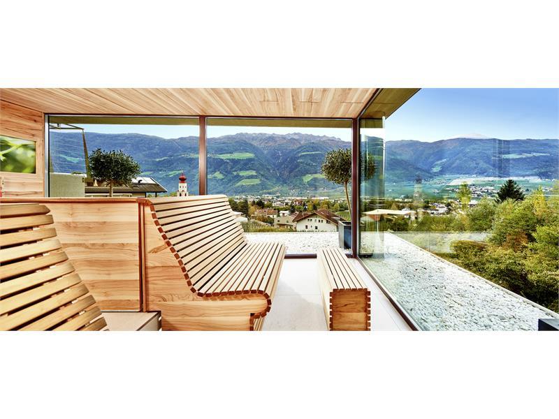 sauna alle erbe & legno d'olivo