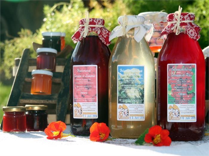 homemade Juice syrup- Pardellerhof, Fié allo Sciliar