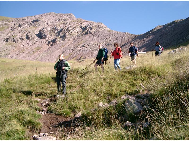 Ob wandern im Hochgebirge