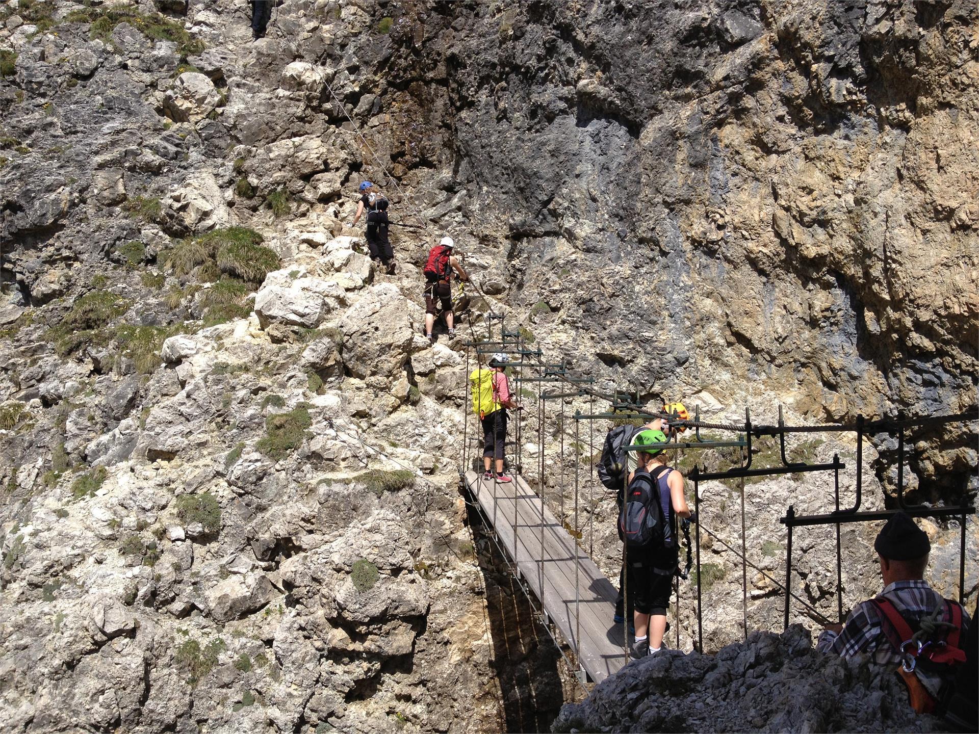 Pisciadú Klettersteig - Brücke