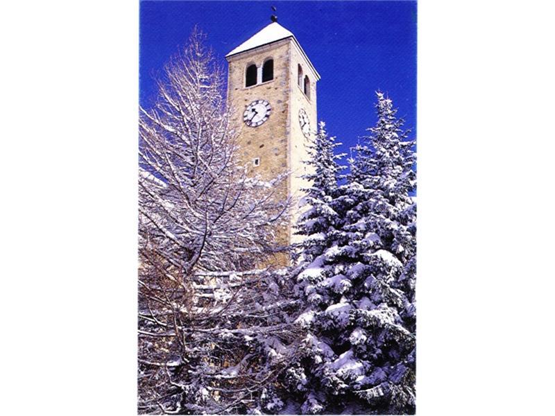 chiesa parrocchiale in inverno