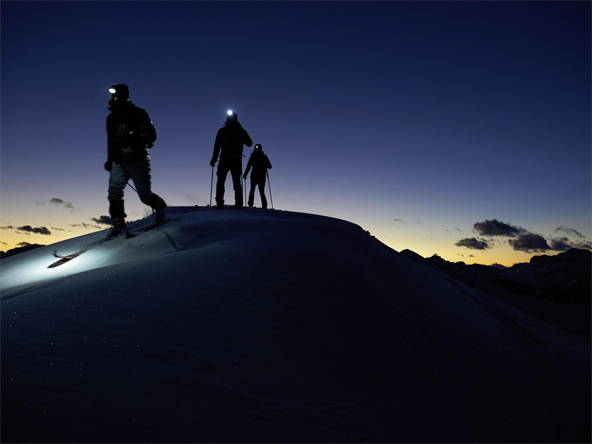 Escursione invernale notturna al Watles