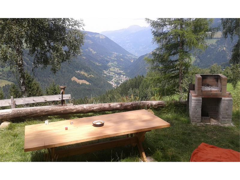 BBQ, garden table and panorama