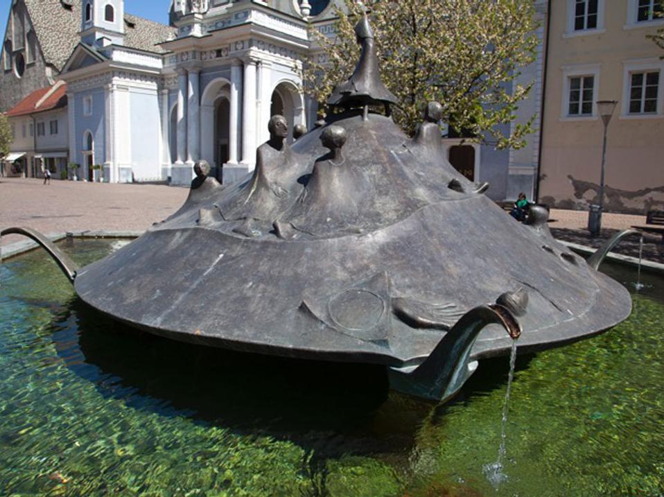 La fontana in Piazza Duomo