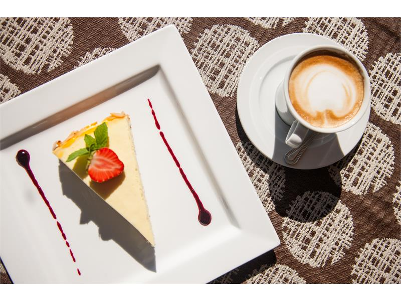 Cake with Cappuccino