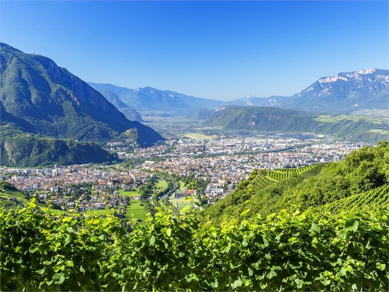 Castle trail panorama 3 Bolzano San Genesio Terlano