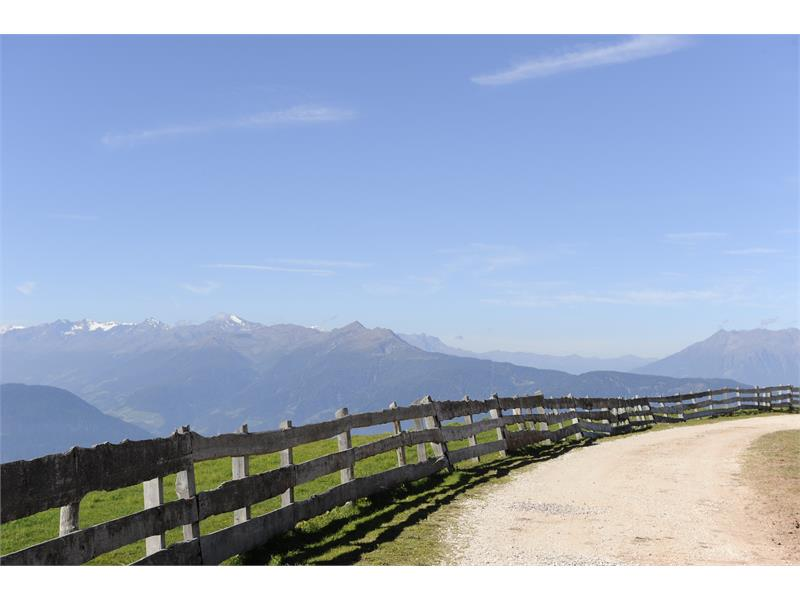 Panoramic view from the Vöraner Alm Mountain Hut
