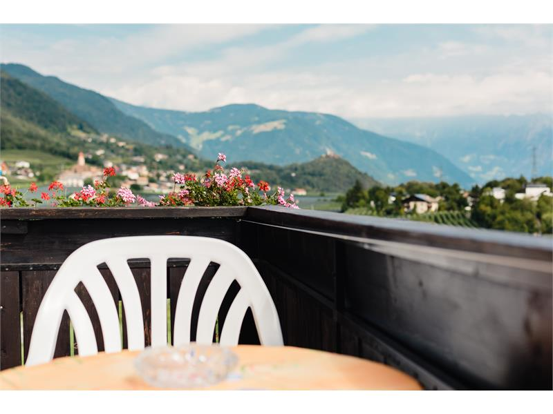 Room with balcony and view until Merano and the mountains