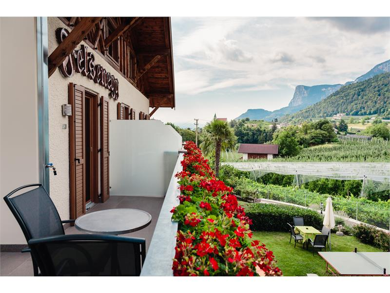 Room with terrace with view direction Bolzano and Gangkofel