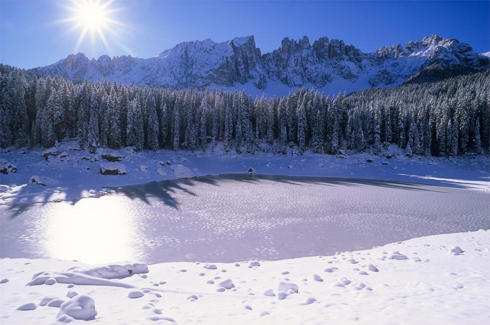 Schneeschuhwanderung vom Karer See auf den Flecker Sam