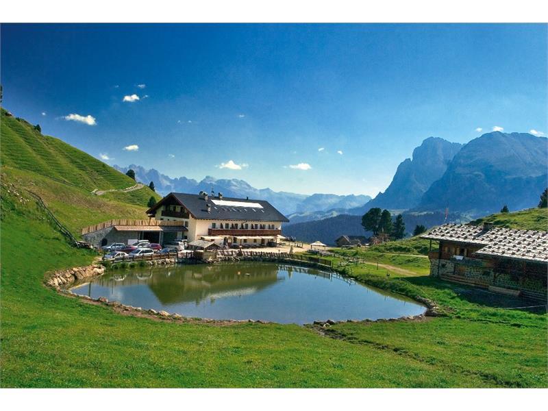 Mountain hut Molignon in summer