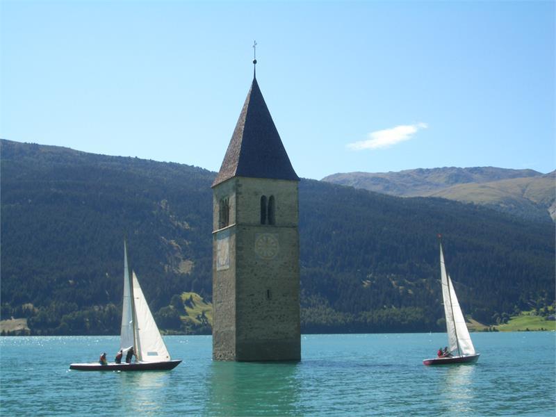 Sailboats at tower
