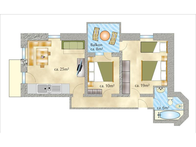 Appartamento Plon