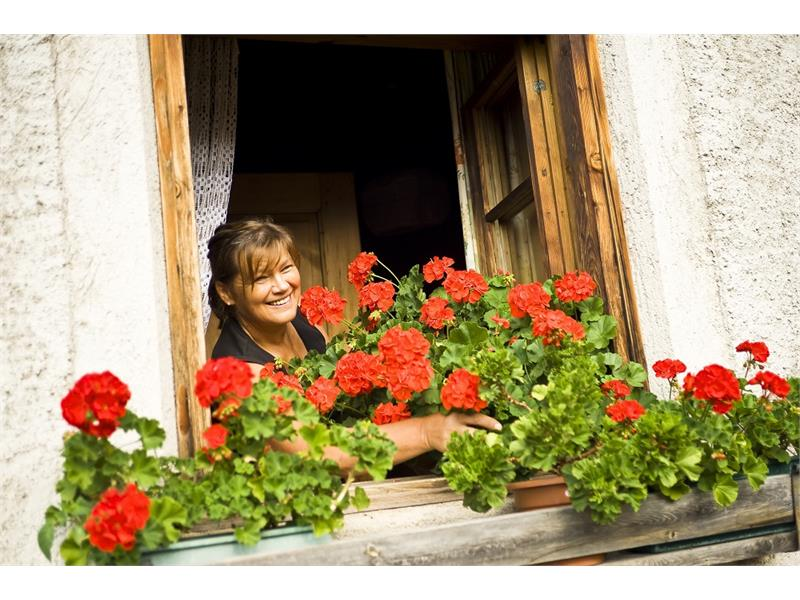 Annemarie and her flowers